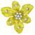1.05ct Round Cut Diamond 18k Yellow Gold Orchid Flower Pin