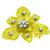 1.05ct Diamond Gold Orchid Flower Pin