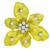 Vintage Tiffany Style 1.05ct Round Cut Diamond 18k Yellow Gold Orchid Flower Pin