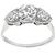 Edwardian 0.87ct Old European Cut Diamond 18k White Gold Anniversary Ring
