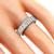 Estate 2.00ct Tapered Baguette Cut Diamond Eternity Platinum Wedding Band