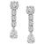 Estate 2.86cttw Round Brilliant 2.57cttw Pear Shape And 2.00ct Smaller Round Brilliant Diamond 18k White Gold Studs / Drop Chandelier Day And Night Earrings