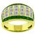 1.68ct Diamond 0.60ct Emerald Gold Ring | Israel Rose