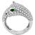 2.30ct Diamond Emerald Onyx Gold Panther Ring  | Israel Rose