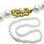 Estate Single Strand Mikimoto Cultured Pearl  18k Yellow Gold Clasp Necklace