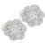 0.90ct Diamonds Gold Floral Earrings