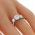 Estate 1.01ct Round Brilliant Center and 0.60ct Round Cut Side Diamond 14k White Gold Engagement Ring