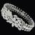 30.00ct Diamond Cluster Gold Floral Bracelet