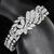 Estate 30.00ct Marquise, Carre, Round, And Baguette Cut Diamond Cluster 18k White Gold Floral Bracelet