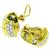 Diamond 18k Yellow And White Gold Earrings