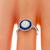 GIA 0.70ct Diamond Sapphire Gold Engagement Ring | Israel Rose