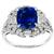 2.55ct  Sapphire Diamond 18k White Gold Ring