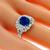 2.55ct Sapphire 0.52ct Diamond Gold Ring