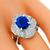 2.41ct Sapphire 1.18ct Diamond Platinum Ring | Israel Rose