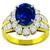 3.46ct Sapphire 1.83ct Diamond Gold Ring  | Israel Rose