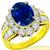 3.46ct Sapphire 1.83ct Diamond Gold Ring