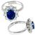GIA 1.88ct Natural Sapphire Diamond Engagement Ring | Israel Rose