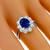 Estate GIA Certified 1.88ct Oval Cut No Heat Natural Sapphire 1.00ct Diamond Platinum Engagement Ring