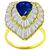 Estate 1.92ct Pear Shape Sapphire 2.30ct Baguette Cut Diamond 14k Yellow Gold Ballerina Ring