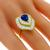 1.92ct Sapphire 2.30ct Diamond Gold Ring | Israel Rose