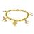 1.60ct Diamond Gold Charm Bracelet | Israel Rose