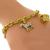 Estate 1.60ct Round Brilliant Diamond 18k Yellow Gold 5 Charm Dangle Bracelet