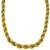 Estate Mid Century 1960s 18k Yellow And White Gold Rope Necklace