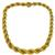 1960s 2 Tone Gold Rope Necklace