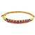 Estate 1950s 5.00ct Round Ruby 0.50ct Old Mine Diamond 14k Rose Gold Bangle