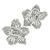 2.09ct Round Cut Diamond 18k White Gold Flower Earrings