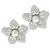 Pearl 2.09ct Diamond Gold Flower Earrings  | Israel Rose