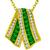 Krypell 1.60ct Emerald 1.16ct Diamond Gold Necklace | Israel Rose