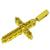 Diamond 14k Yellow Gold Cross Pendant