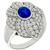 1.30ct Sapphire 1.00ct Diamond Gold Floral Ring | Israel Rose