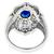 Sapphire Diamond 18k White Gold Floral Ring
