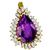 20.00ct Amethyst 2.60ct Diamonds Gold Pendant