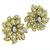 Estate 2.50ct Round Brilliant Diamond 18k Yellow Gold Floral Earrings