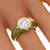 Estate Arts And Crafts 2.49ct Old Mine Cut Diamond 18k Yellow Gold Ring