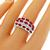Estate 1.50ct Marquise Brilliant Ruby 0.90ct Baguette Brilliant Diamond 18k White Gold Ring