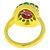 Ruby Emerald Diamond 18k Yellow Gold Cocktail Ring