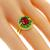 1.48ct Ruby 0.62ct Emerald 0.37ct Diamond Gold Ring | Israel Rose