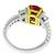 Ruby Diamond Platinum 18k Gold White Ring