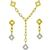 Roberto Coin 1.25ct Diamond 2 Tone Gold Necklace & Earrings Set