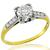 Victorian 0.75ct Diamond Gold Engagement Ring