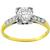 Antique Victorian 0.75ct Old European Brilliant Diamond 14k Yellow And White Gold Engagement Ring