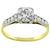 Antique Victorian 1.00ct Old Mine Brilliant Diamond 14k Yellow And White Gold Engagement Ring