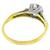 Diamond 14k Yellow And White Gold Engagement Ring
