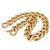 Pink Gold Figaro Tubular Chain Necklace