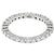 Diamond 14k White Gold Eternity Wedding Band