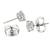 Diamond 14k White Gold Stud Earrings